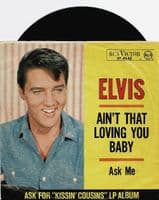 ELVIS PRESLEY Ain't That Loving You Baby Vinyl Record 7 Inch German RCA Victor 1964